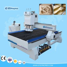 Auto changer heads cnc woodworking machine , 3 spindles China atc CNC Router SM-1325T3
