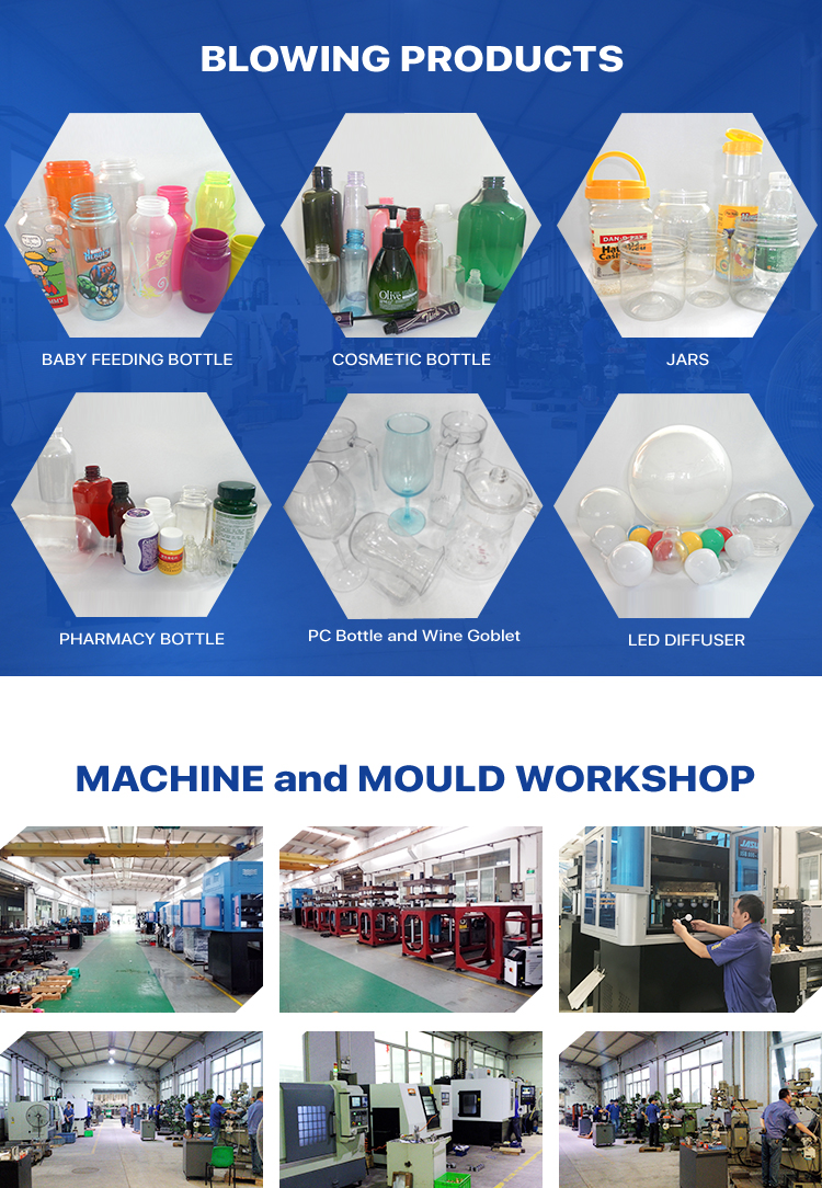Taiwan JASU one step blow molding machine for PET PP PC TRITAN water bottle