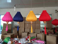 Indoor/Outdoor Hanging Diamond Shape Traditional Chinese Silk Lanterns