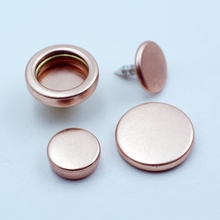 high end rose gold metal snap on button for lady's shirt