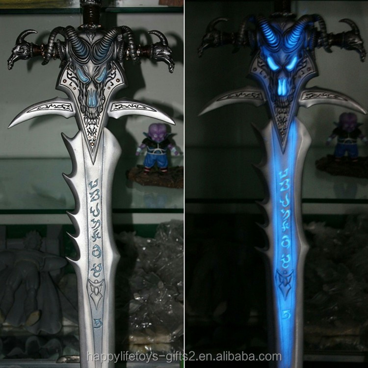 wholesale weapon accessories sword metal craft with LED light