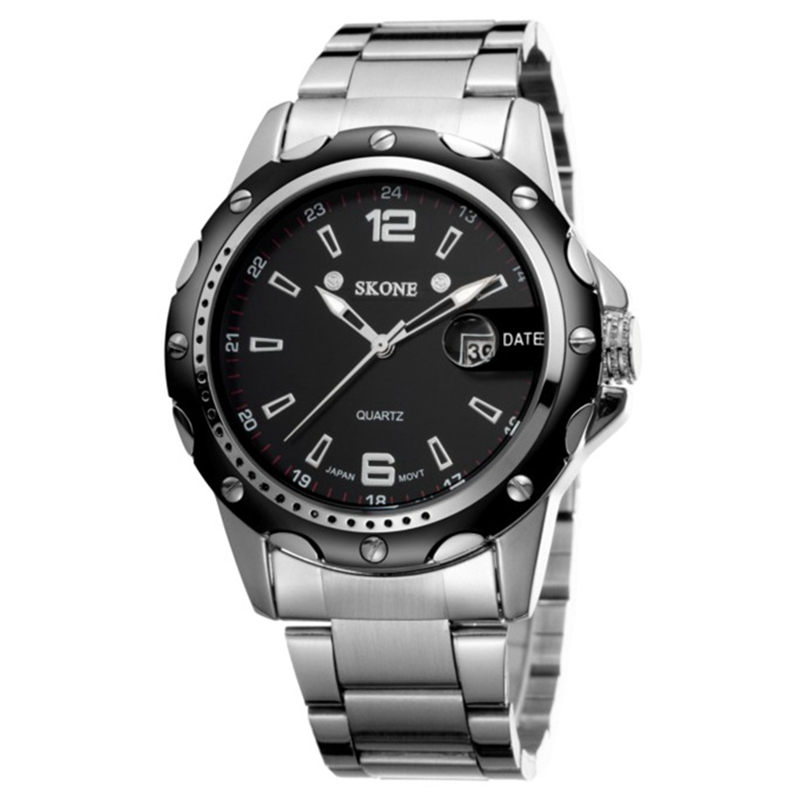 Fashion stainless steel chain wrist watch