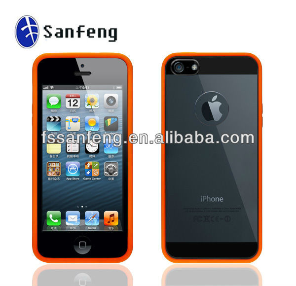 For iPhone 5 PC TPU Gel Case,Soft TPU Bumper for iPhone5 5g 5th,for iPhone5 Case Dropshipping