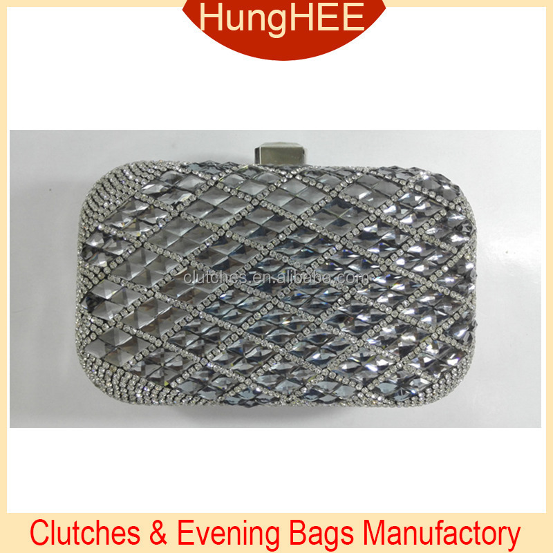 Luxury Rhinestones Bling Box Evening Clutch Bags Crystal and Rhinestone Evening Bags