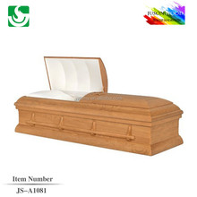JS-A1081 luxury hand carved wooden casket supplier