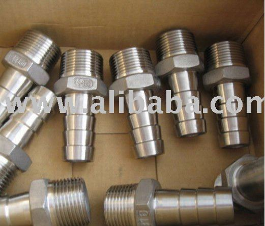 stainless steel screwed fittings (304,316) Stainless Steel Pipe Fittings - Hose Nipples