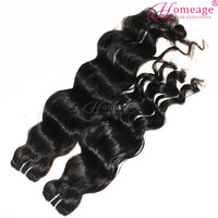 homeage 100% raw virgin malaysian wet and wavy hair weave keep curl after washing