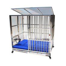 Shanghai Supplier Wholesale Folding Metal Stainless Steel Dog Crate
