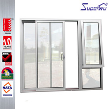 Coastal Storm Resistance bullet-proof glass stacking glass door system slide up door