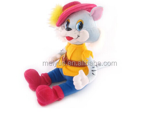 New Toys 2015 Soft Baby Dolls Plush Cat Dolls with Dress and Hat