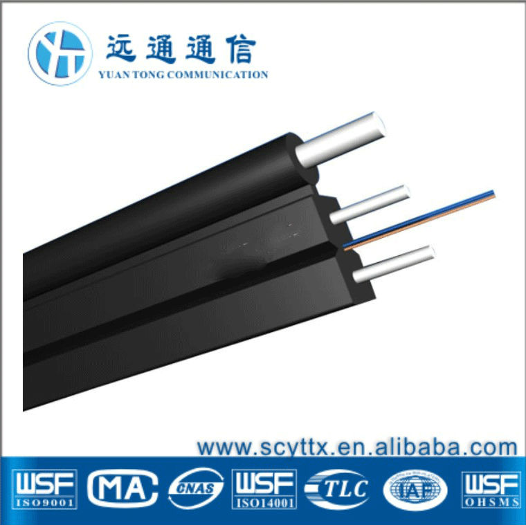 Simplex soft Indoor Optical Fiber Cable/FTTH Drop Cable