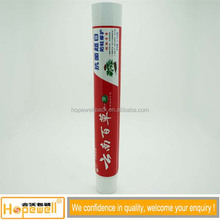 Chinese Herbal Medicated Tooth Paste / 35mm 90ml Shiny Red Plastic Tube With Golden Stamping
