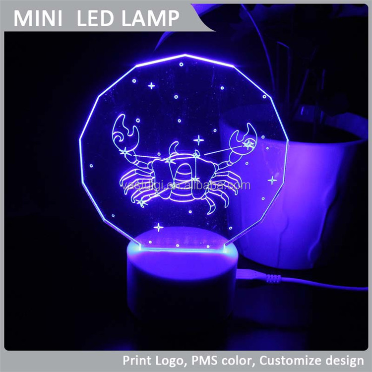 VLL-010 Cancer mini cabinet lamp, 2015 Horoscope LED Night Light Lamp, New arrival decorative Light.