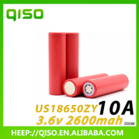 100% Original and authentic 3.7v battery 2600mah UR18650ZY li-ion 18650 battery