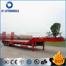 Promotional price 3 axles low bed semi trailer dimensions/low bed semi trailer