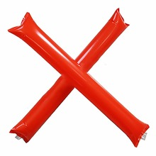 promotion red thunder stick cartoon printing hand clap noise maker inflatable cheering sticks