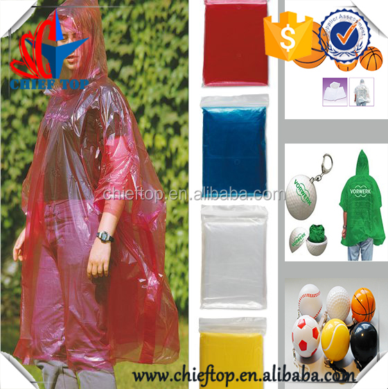 factory Price promotion transparent disposable pe rain poncho