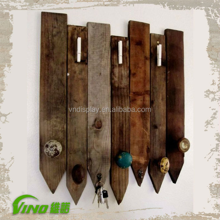 Window display props wooden panels hooks