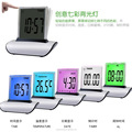 New Design LCD Clock Thermometer with Push Panel