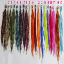 2016 beautiful thin long grizzly rooster feathers for sale cheap hair extensions
