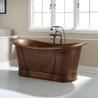New design hand made copper bathtub