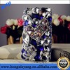 diamond inlay Luxury rhinestone blu phone case for iphone 5/5s