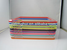 "2013 New Arrival Clear Skin TPU Soft Bumper For iPad Mini 7.9"" Protection Frame Case"