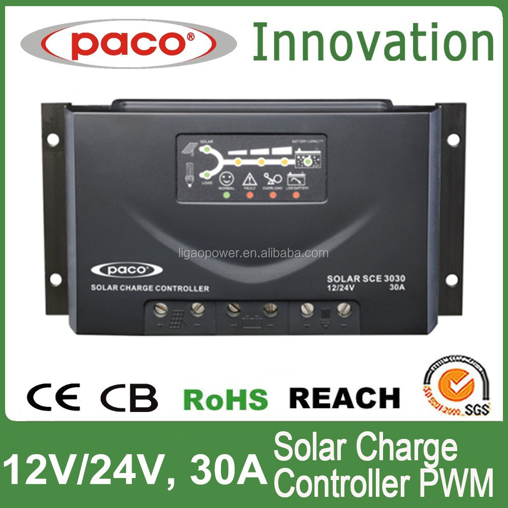 PWM Digital Solar Charge Controller 30A/Digital Solar Regulator 30A/LED Solar Panel Controller 30A