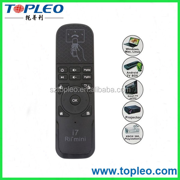2.4g air fly mouse RII I7 Smart air mouse remote for TV Box
