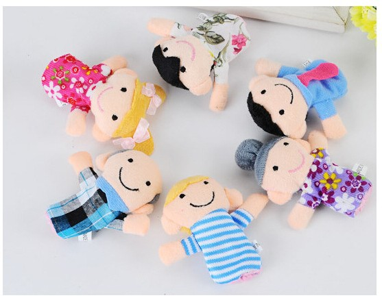 Wholesell story helper finger puppet Sweet family <strong>Plush</strong> finger puppets MOQ 1200pcs USD0.21/pc EXW