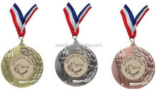promotional gold plated custom metal medal /medallions medal for match