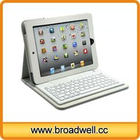Hot Selling White Leather Wireless Keyboard For iPad