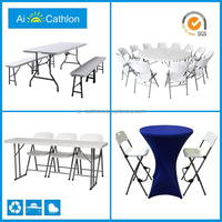 10 people foldable round banquet table and chairs set,rental cheap folding tables and chairs