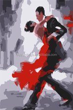 Handmade modern newest design dance couple painting by number