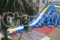 2014 New Giant Inflatable Wet and Dry Hippo Slide for adults and kids