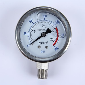 Stainless Steel Glycerine or Silicone Oil Filled dial Pressure Gauge