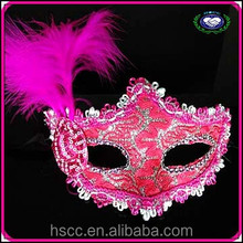 China Manufacturer High Quality Multicolor Small Hat Feather Masquerade Masks