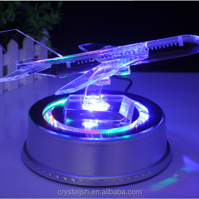 Noble New Design Optical Crystal Air Plane with LED light