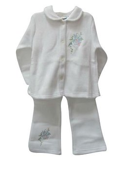New baby white 2 piece baby clothing set