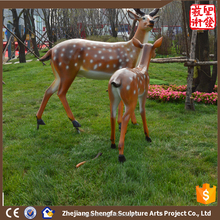 2016 New Abstract Sculpture Deer Fiber Glass Statue For Outdoor Garden Animal Statues