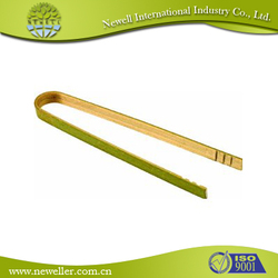 2014Wholesale one-time disposable one-off single bamboo wooden tweezer chopsticks tong with toothpick With Compete Price