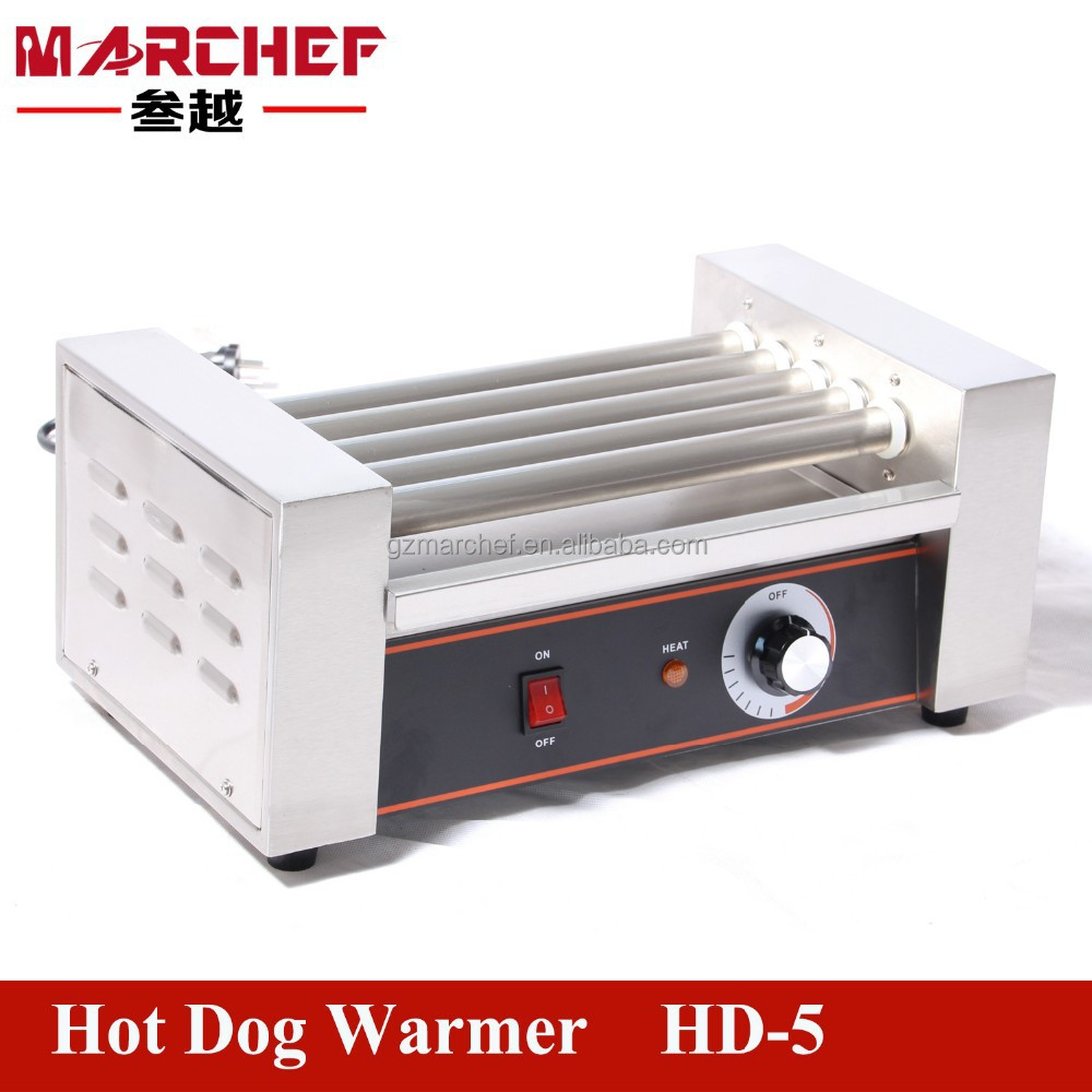 5 Rollers Commercial Automatic Electric Hot Dog Grill_Industrial Sausage Warmer