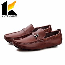 2017 fashion genuine leather men casual shoes