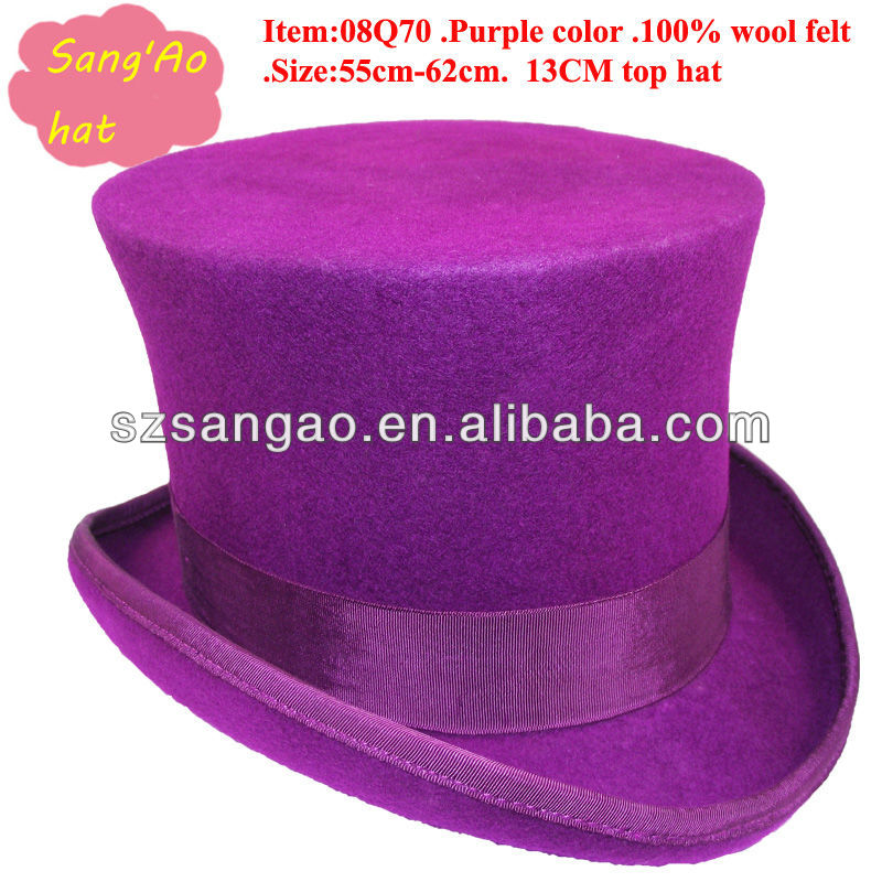 wholesale Purple mini top hats for girls