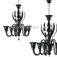 Hot Sell Modern Black Muranoo Glass Chandelier Lighting