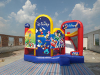 children favorite inflatable combo moonwalk with many themes