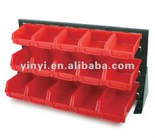 30 plastic storage bin kit, wall mount parts bins,combination boxes,plastic bin shelf (202705)