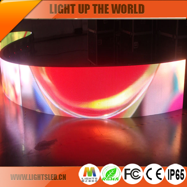 p5 hot sale Shenzhen Indoor flexible soft stage light display roll up led video screens
