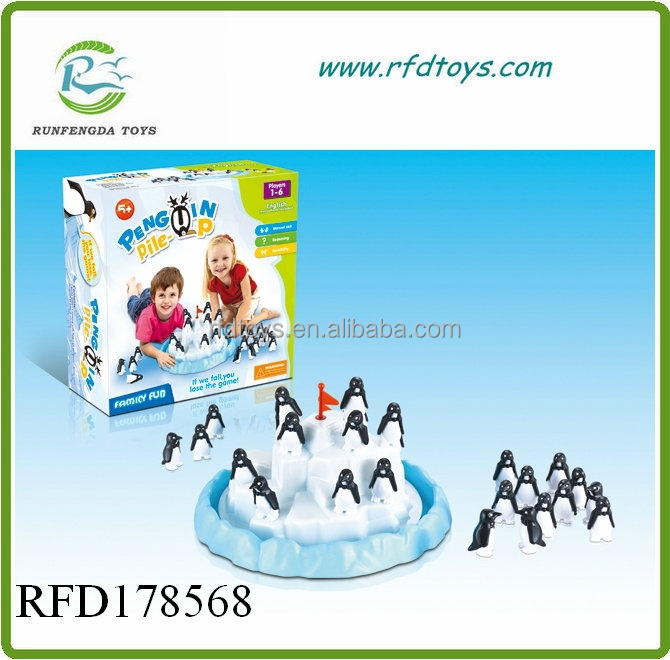 Kids educational pile-up iceberg penguin plastic pengunin toys