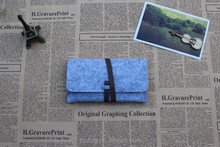 trendy felt drawing pencil pouch